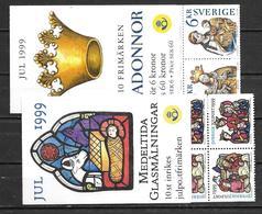 Suède 1999 Carnets C2130 Et 2133 Neufs Noël - Carnets
