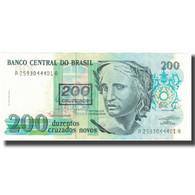 Billet, Brésil, 200 Cruzeiros On 200 Cruzados Novos, Undated (1990), KM:225b - Brazil
