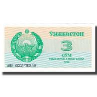 Billet, Uzbekistan, 3 Sum, 1992, 1992, KM:62a, SPL+ - Ouzbékistan