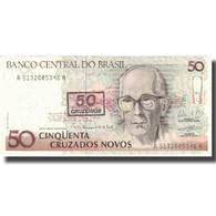 Billet, Brésil, 50 Cruzeiros On 50 Cruzados Novos, Undated (1990), KM:223, SUP+ - Brazil