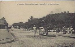Nouvelle Calédonie Nouméa La Rue Inkermann Avec Rouleau Compresseur - New Caledonia