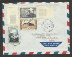 Affr. Noguès - Verlaine - Clos Vougeot / Lettre Avion >>> U.S.A. / PARIS 05.12.1951 - Marcophilie (Lettres)