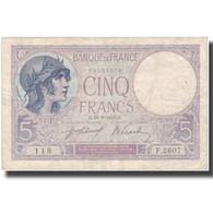 France, 5 Francs, Violet, 1918, 1918-06-29, TB+, Fayette:3.2, KM:72a - 1871-1952 Antiguos Francos Circulantes En El XX Siglo