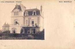 Carte Photo : Dinard Saint Lunaire (35) Rare Photo De La Villa Bagatelle  Précurseur - Lieux