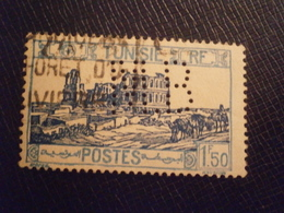 TUNISIE TUNISIA TIMBRE STAMP 175 MB14 PERFORE PERFORES PERFIN PERFINS PERFORATION LOCHUNG PERCE PERFO PERFORATI - Tunisie (1888-1955)