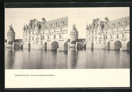 Stereo-AK Chenonceaux, Facade Occidentale Du Chateau - Stereoscope Cards
