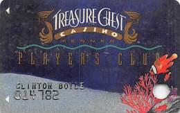 Treasure Chest Casino - Kenner LA - 1st Issue Slot Card   ...[RSC]... - Casinokarten