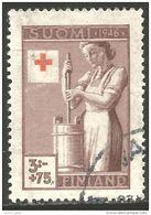 396 Finlande 1946 Beurre Butter Croix Rouge Red Cross Rotkreuze (FIN-139) - Alimentation
