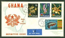 Ghana, Anc. : Gold Coast; Timbre Scott # 56 + 57 + 59 + 60. Premier Jour / First Day Cover (0351) - Ghana (1957-...)