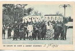 "DAHOMEY 1931 PC ""Un Groupe De Chefs A Abomey (Dahomey)"" PC  USED - Dahomey"
