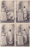 ENFANT & PERROQUET L'ESPIEGLE FULL SERIE X 10 CPA CIRCULEE 1903 A BUENOS AIRES TAXED SURTAXED PLUS A PAYER  - BLEUP - Niños