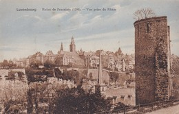 LUXEMBOURG. RUINE DE L'ENCEINTE (1393) VUE PRISE DU RHAM. ED H GUGGENHEIM & CO. CIRCULEE CIRCA 1930s  - BLEUP - Postales