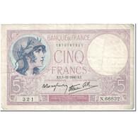 France, 5 Francs, Violet, 1940, 1940-12-05, TB+, Fayette:4.16, KM:83 - 1871-1952 Antiguos Francos Circulantes En El XX Siglo