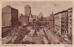 VICTORIA SQUARE. MONTRAL, CANADA. PHOTO CPR. INTABLIO GRAVURE. CIRCULEE 1941 A BUENOS AIRES AUTRES MARQUES - BLEUP - Montreal