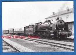 Photo Ancienne - Gare De CHATEAUDUN - Locomotive SNCF 141 C 100 - Vers 1980 - Train à Vapeur Tender Wagon Bahn Eisenbahn - Trains