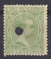 ESPAÑA - SPAGNA - SPAIN - ESPAGNE- 1889 - Yvert 203 Non Gommato E Non Timbrato, Perforato, Come Da Immagine. - 1889-1931 Regno: Alfonso XIII