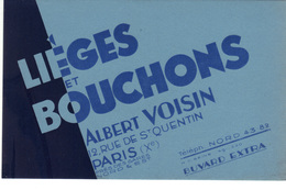 Buvard  Neuf   Lièges Et Bouchons  Albert Voisin  Paris Xème - Blotters