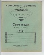 """Cahier -  Concours De Devoirs De Vacances   Organisé Par Le Journal """"L'Ecole""""  N°5 (enfants De 11 Et 12 Ans ) - Blotters"""