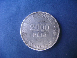 "BRAZIL / BRASIL - COIN ""2000 REIS"", SILVER / PRATA , 1911 - Brazil"