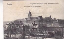 POSTDAM. LANGEBRUCKE MIT DENKMAL KAISER WILHELM DES GROSSEN, KRIEGSSCHULE AUF DEM BRAUHAUSBERG.. CPA CIRCA 1900s - BLEUP - Potsdam