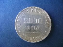 """BRAZIL / BRASIL - COIN """"2000 REIS"""", SILVER / PRATA , 1906 - Brésil"""