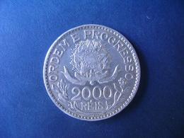 """BRAZIL / BRASIL - COIN """"2000 REIS"""", SILVER / PRATA , 1913 - Brésil"""