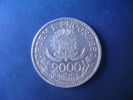 "BRAZIL / BRASIL - COIN ""2000 REIS"", SILVER / PRATA , 1913 - Brazil"