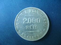 """BRAZIL / BRASIL - COIN """"2000 REIS"""", SILVER / PRATA , 1911 - Brésil"""