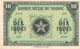 Maroc Protectorat Billet 10 Francs  1er Mars 1944 - Morocco