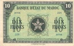 Maroc Protectorat Billet 10 Francs  1er Mars 1944 - Maroc