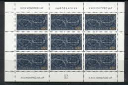 Yugoslavia 1978 Astronautical Federation Sheet MUH - 1945-1992 Socialist Federal Republic Of Yugoslavia