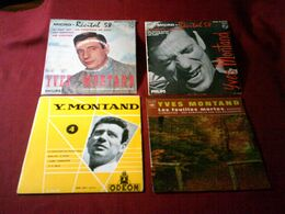 YVES  MONTAND  ° COLLECTION DE 12 / 45 TOURS  ORIGINAL DES ANNEES 60 - Collections Complètes