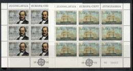 Yugoslavia 1982 Europa 2xsheet MUH - 1945-1992 Socialist Federal Republic Of Yugoslavia