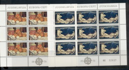 Yugoslavia 1975 Europa 2x Sheet MUH - 1945-1992 Socialist Federal Republic Of Yugoslavia