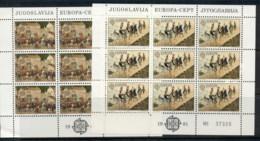 Yugoslavia 1981 Europa 2xsheet MUH - 1945-1992 Socialist Federal Republic Of Yugoslavia