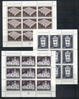 Yugoslavia 1975 European Architectural Heritage Year 3xsheet MUH - 1945-1992 Socialist Federal Republic Of Yugoslavia