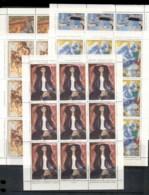 Yugoslavia 1980 Paintings 5xsheet MUH - 1945-1992 Socialist Federal Republic Of Yugoslavia