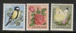 Yugoslavia 1974 Youth Day, Bird, Flower, Butterfly MUH - 1945-1992 Socialist Federal Republic Of Yugoslavia