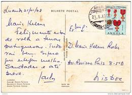 Angola - Luanda Avenida Álvaro Ferreira - Circulated With Stamp Timbre ( 2 Scans ) - Angola