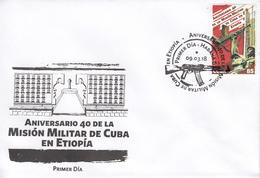 CUBA 2018  Mission In Ethiopia  FDC - Cuba