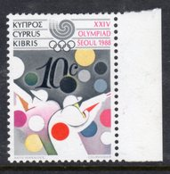 CYPRUS - 1988 OLYMPICS 10c SHOOTING STAMP FINE MNH ** SG 724 - Unused Stamps