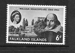 FALKLAND 1964 WILLIAM SHAKESPEARE  YVERT N°143 NEUF MNH** - Falkland
