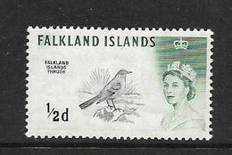 FALKLAND 1960 OISEAUX FILIGRANE INVERSE  YVERT N°122 NEUF MNH** - Falkland