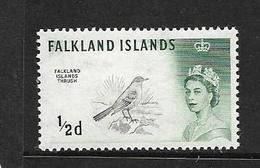 FALKLAND 1966 OISEAUX FILIGRANE SUR LE COTE YVERT N°122 NEUF MNH** - Falkland