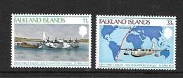 FALKLAND 1978 1er VOL SOUTHAMPTON-STANLEY YVERT N°269/70 NEUF MNH** - Falkland