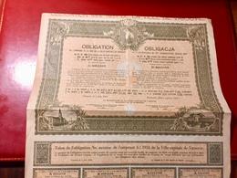 EMPRUNT 4 1/2% 1931 De  La  Ville  Capitale  De  VARSOVIE-----Obligation De 284 Frs - Shareholdings