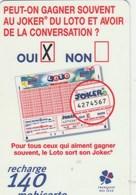 MOBICARTE...RECHARGE 140...FRANCAISE DES JEUX - France