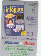 MOBICARTE...RECHARGE 1 1 EURO....INFOPUCE - France