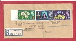 Y&T N° 385+391+392 KILBURN Vers REIMS AIR 2 SCANS   1965 - 1952-.... (Elizabeth II)