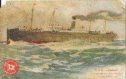 Red Star Line Antwerp (Anvers) Paquebot T.S.S. Saland - Illustration Signée H. Cassiers - Paquebots